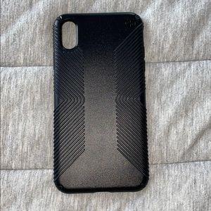 Black iPhone XS Max Speck case